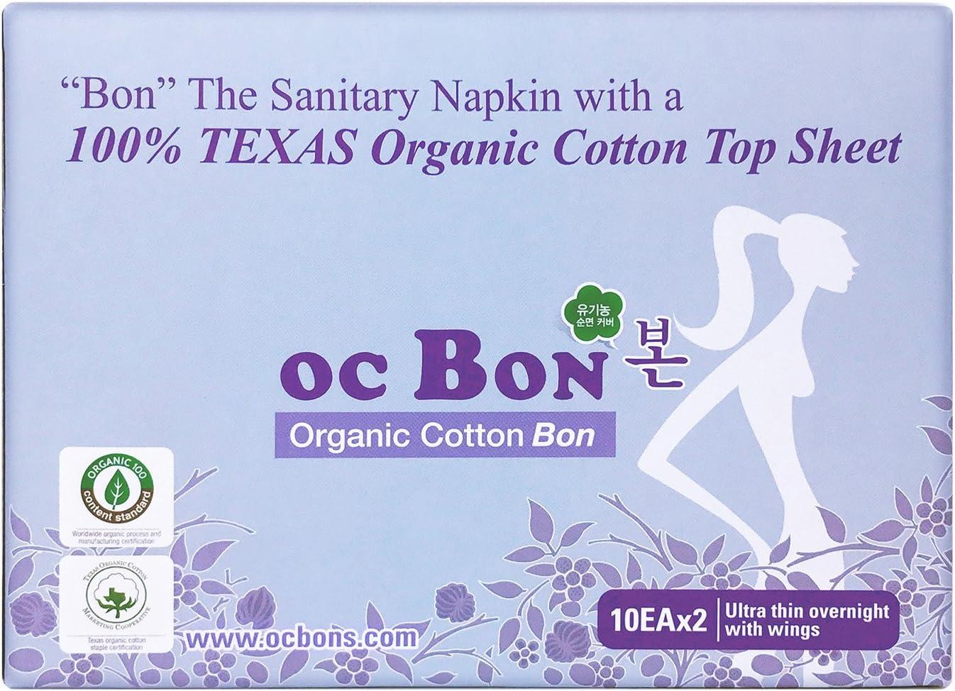 Almohadillas menstruales de algodón orgánico con certificado de ...