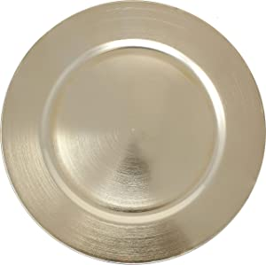 Metallic Foil Charger Plates - Set of 6 - Made of Thick Plastic - Gold