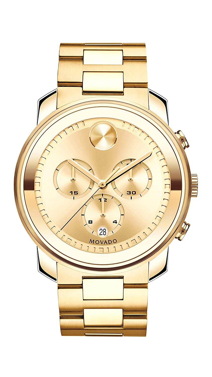 Invicta Men s Bolt Quartz Chronograph 52mm Watch with Stainless-Steel Strap, Gold, 25.2