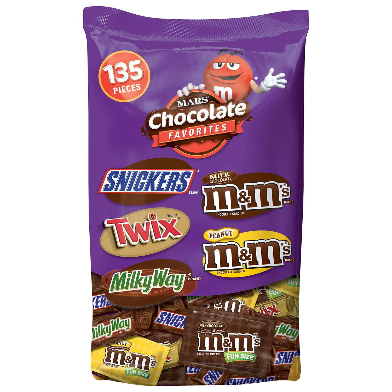 MARS Chocolate Favorites Halloween Candy Bars Variety Mix 69.2-Ounce 135-Piece Bag by Mars (Image #1)