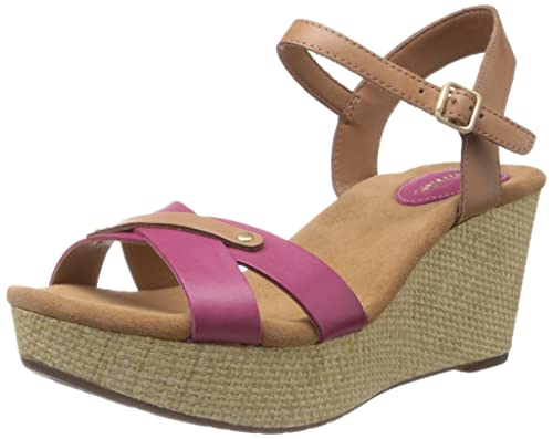 0e29b848d01 Clarks Women s Perfect Laugh Fuschia Leather Fashion Sandals - 7.5 UK  Buy  Online at Low Prices in India - Amazon.in
