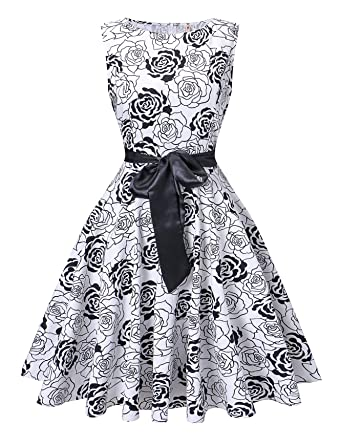 2ad37293ee5 V fashion Women s 1950s Vintage Rockabilly Dresses Audrey Hepburn Style  Swing Dress
