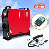 RANSOTO 12V 5KW Remote Control Diesel Air Heater Parking Heater Silencer with LCD Thermostat Monitor Compatible with…