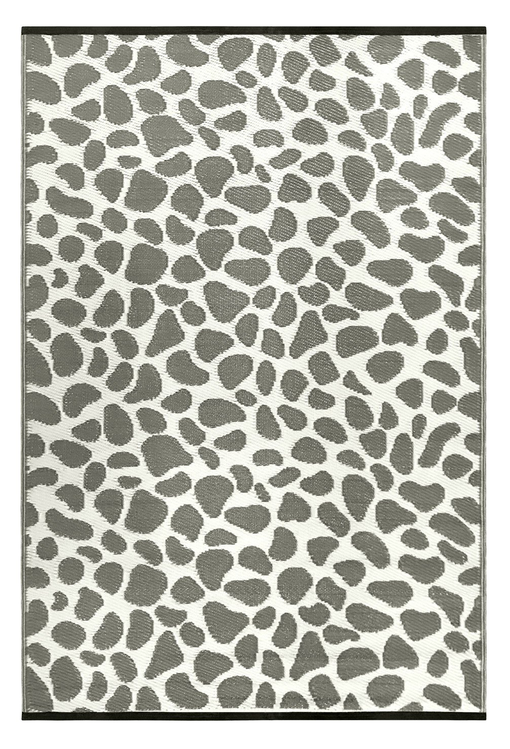 Outdoor/Light Weight/Reversible Eco Plastic Rugs (3 x 5, Grey/White)