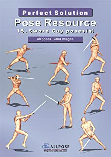 Allpose Book] 16_Sword Guy poses(b) (for comic, cartoon, manga