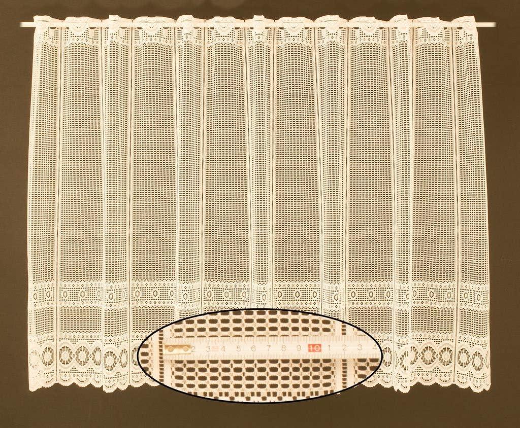 Naturaleza Gardinia Visillo Bordado 140 x 45 cm