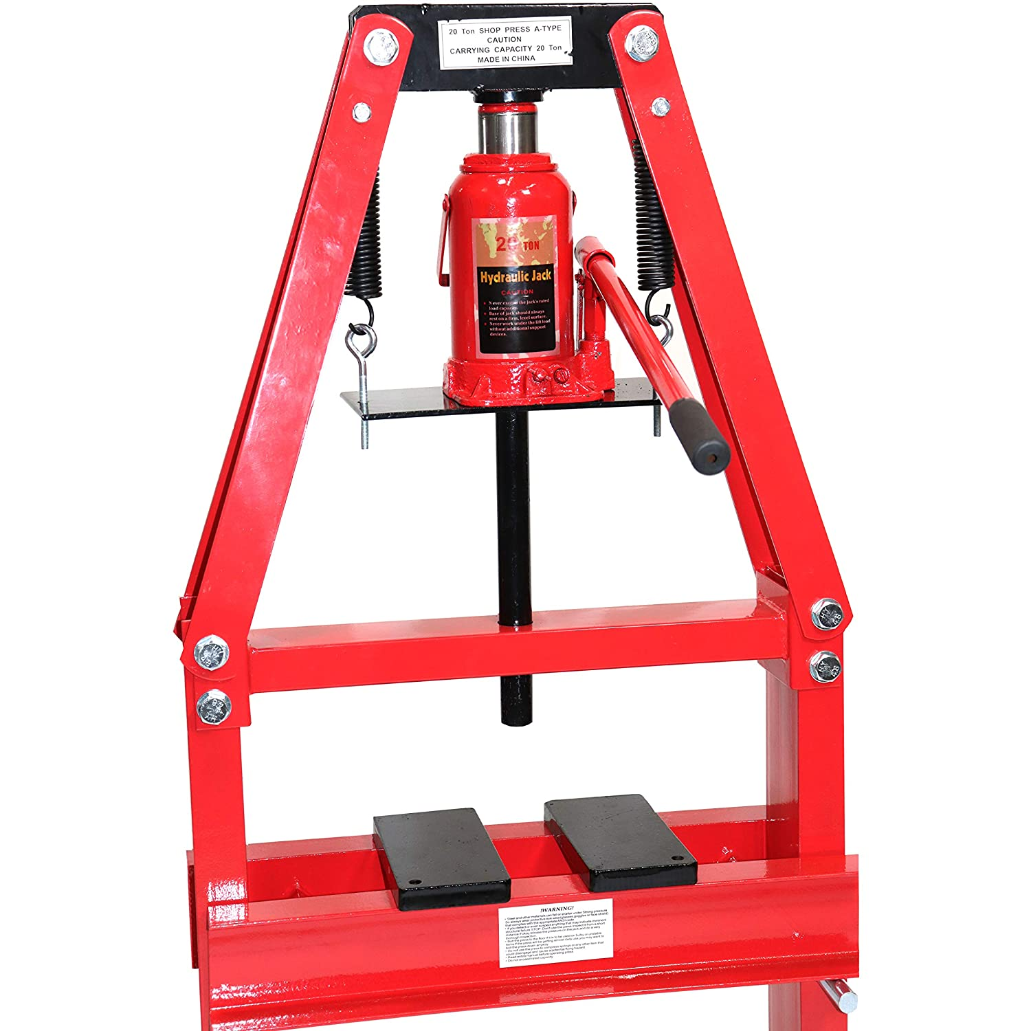 Dragway Tools 12 Ton A-Frame Benchtop Hydraulic Shop Press with Press Plates Install Remove Gears Press Bearings Bend Metal
