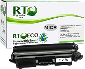 Renewable Toner Compatible MICR Toner Cartridge Replacement for HP CF217A 17A Laserjet Pro M102, MFP M130…