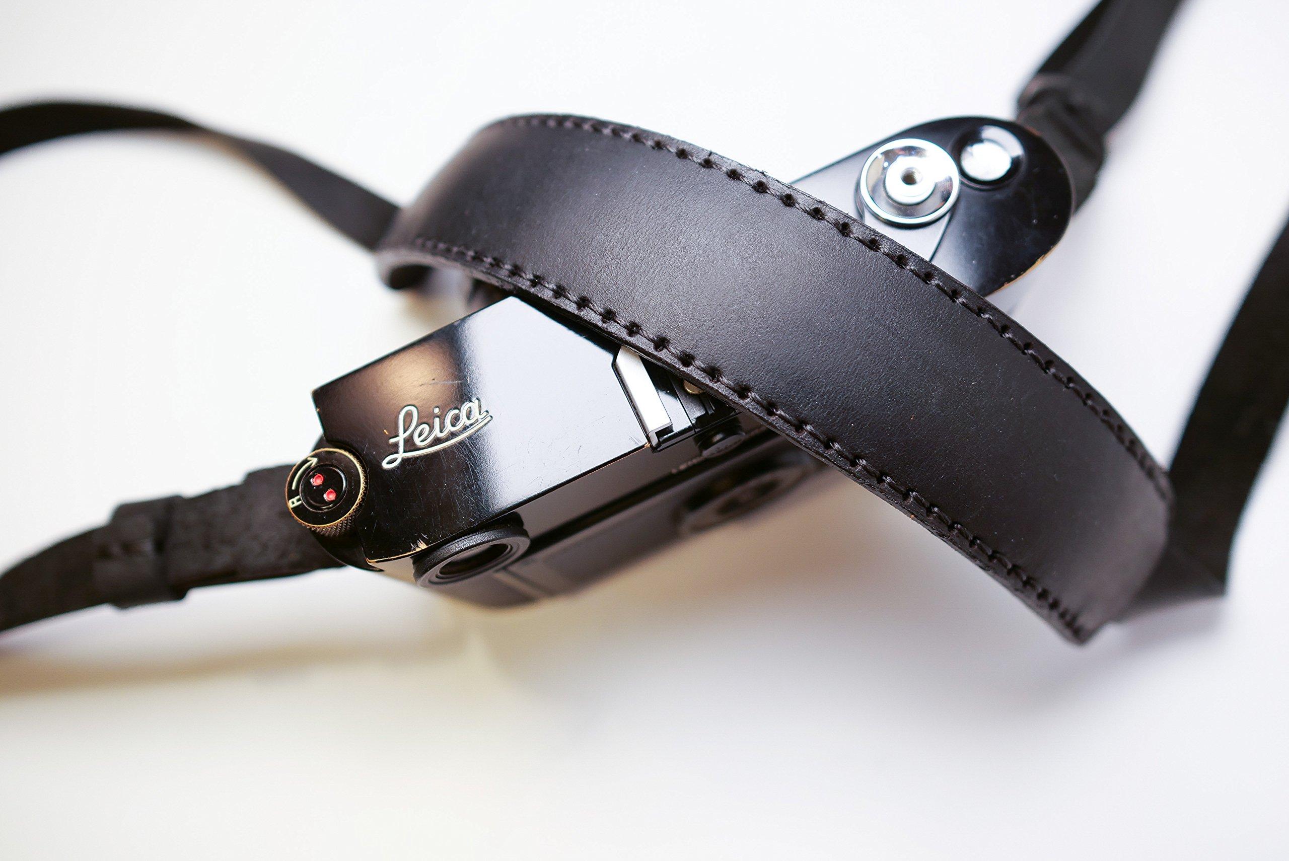 Henri by Eric Kim Handmade Premium Leather Camera Shoulder Strap (Phantom Black)