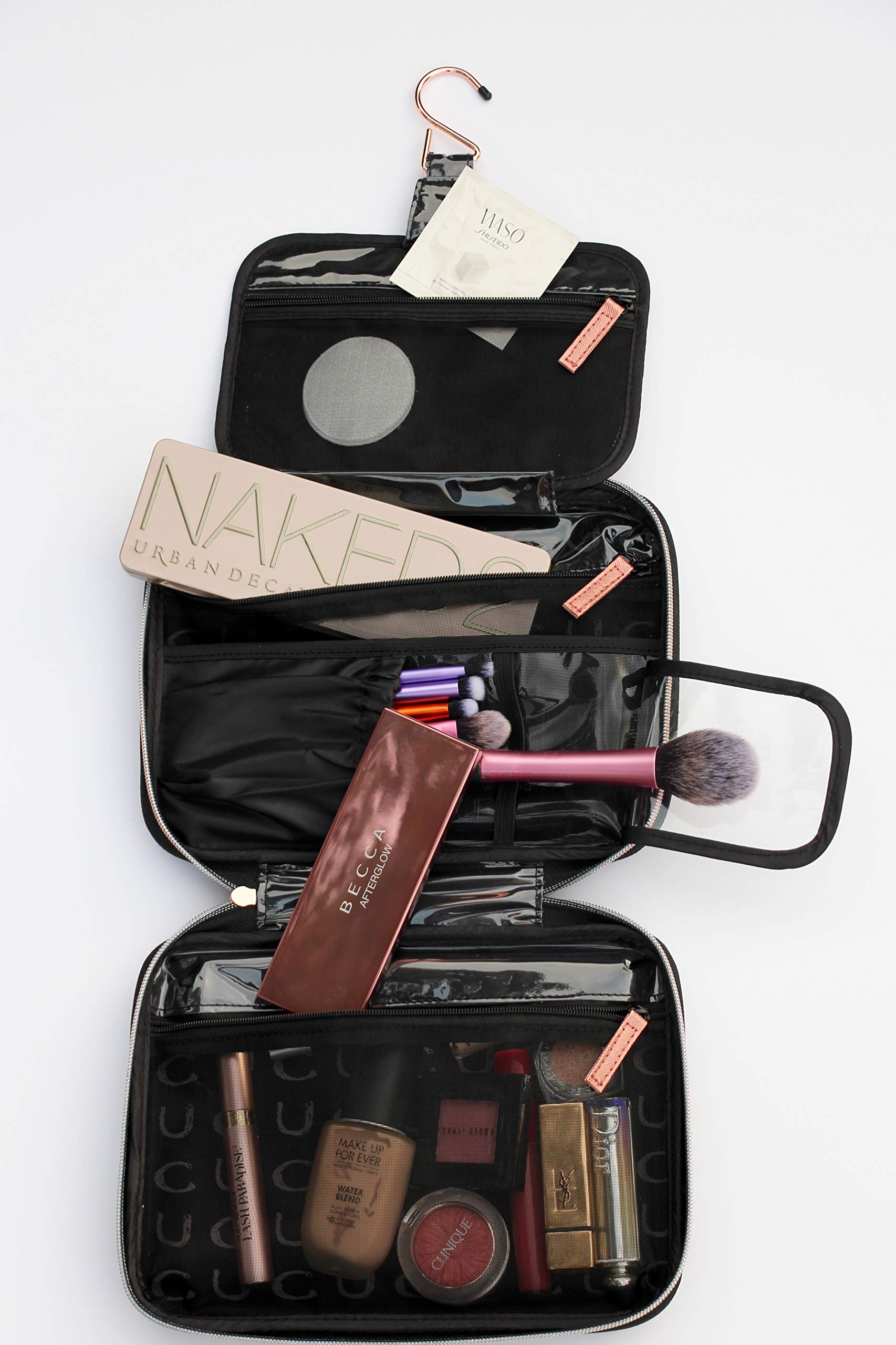 CASE UP MIAMI - VOYAGE COSMETICS MAKE-UP TRAVEL CASE (Prime Black/Copper Rose)