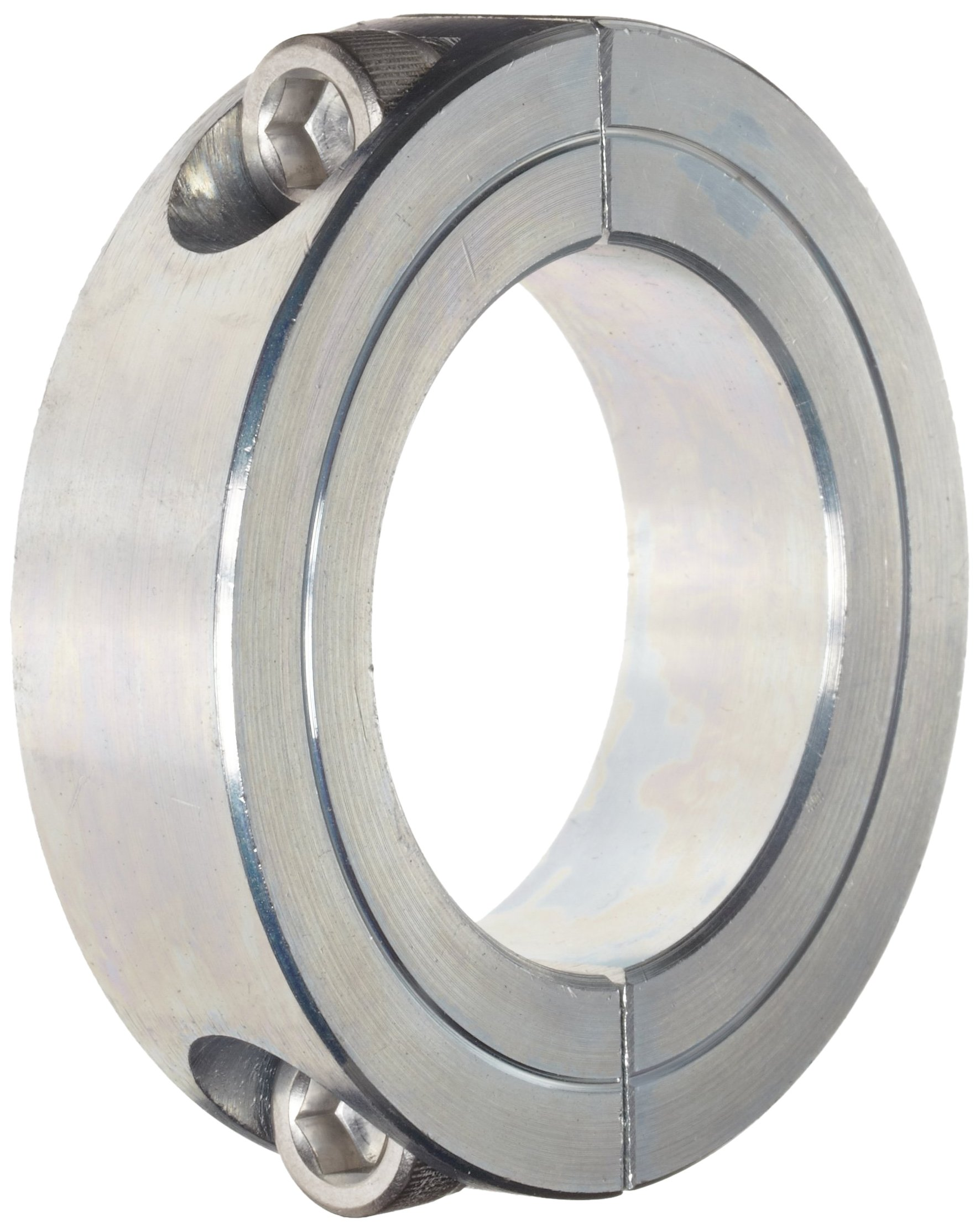 Climax Metal 2C-168-Z Two-Piece Clamping Collar, Zinc Plating, Steel, 1-11/16'' Bore, 2-3/4'' OD, 11/16'' Width