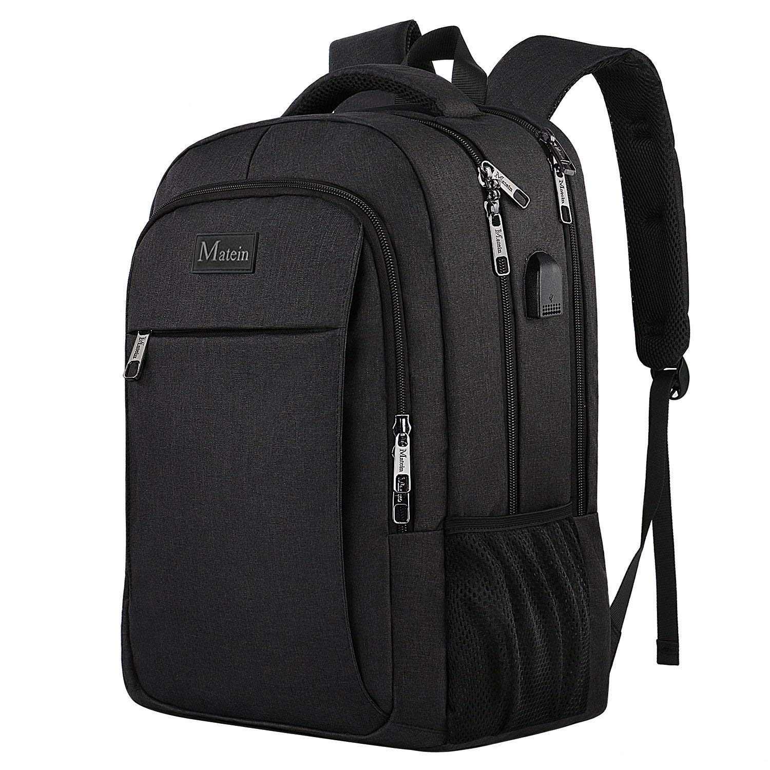 f58d2d58c38a MATEIN Business Laptop Backpack, Slim Travel Computer Rucksack with USB  Charging Port, Professional Water Resistant College School Daypack For  Women ...