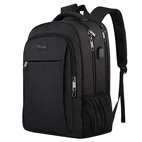 8aae5a2a7 MATEIN Business Laptop Backpack, Slim Travel Computer Rucksack with USB  Charging Port, Professional Water
