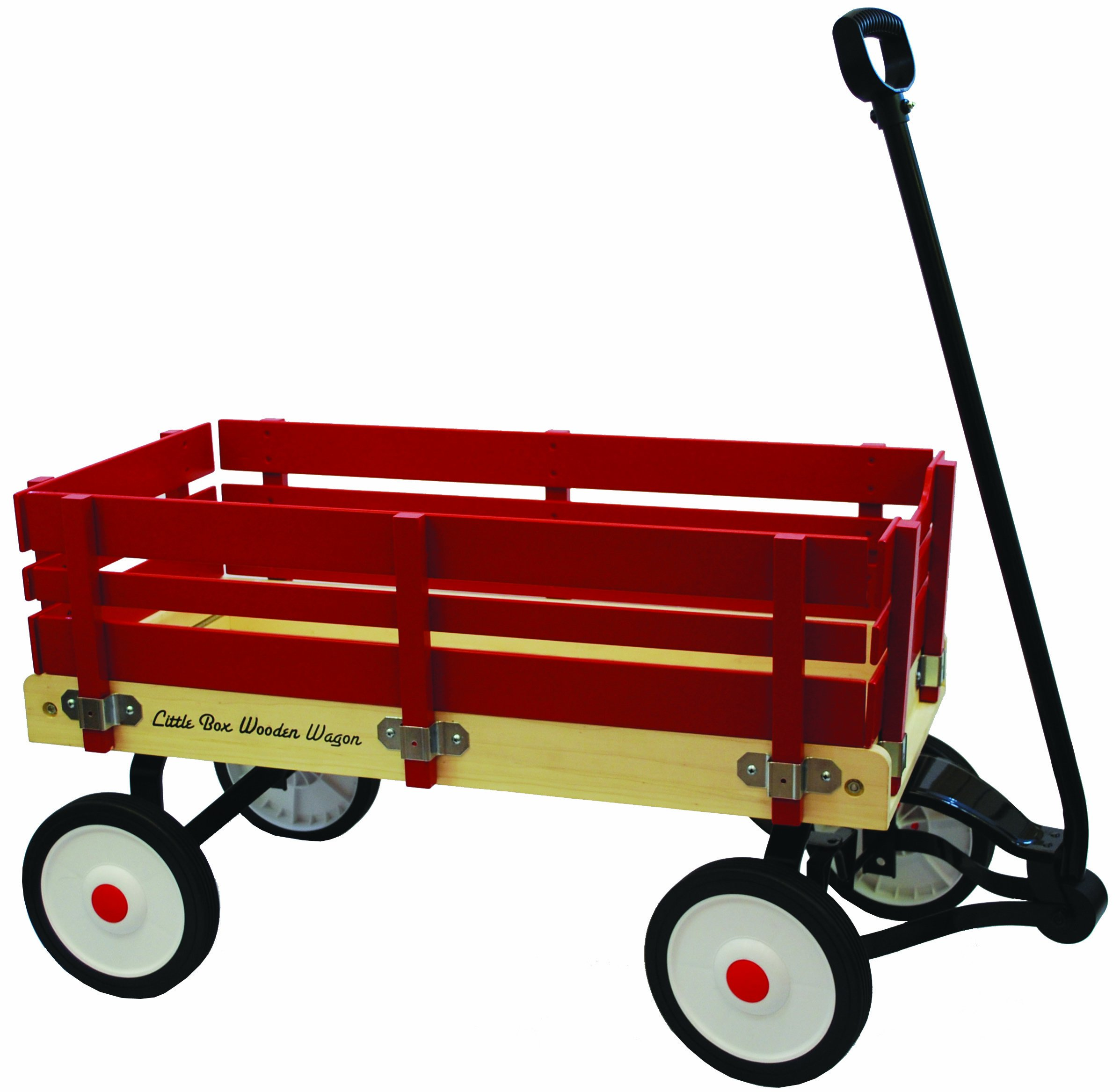 Grand Forward Little Box 34'' Wooden Wagon, Red