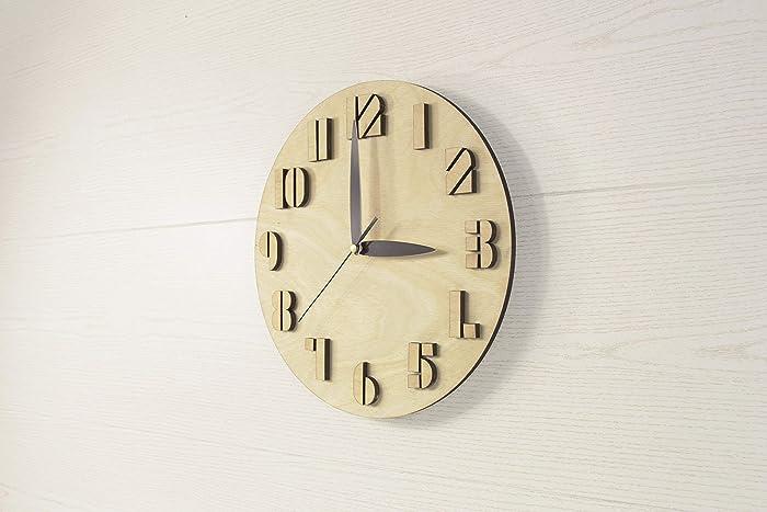 Wooden Wall Clock Wood Clocks Wall Clocks Wood Rustic Wall Clock