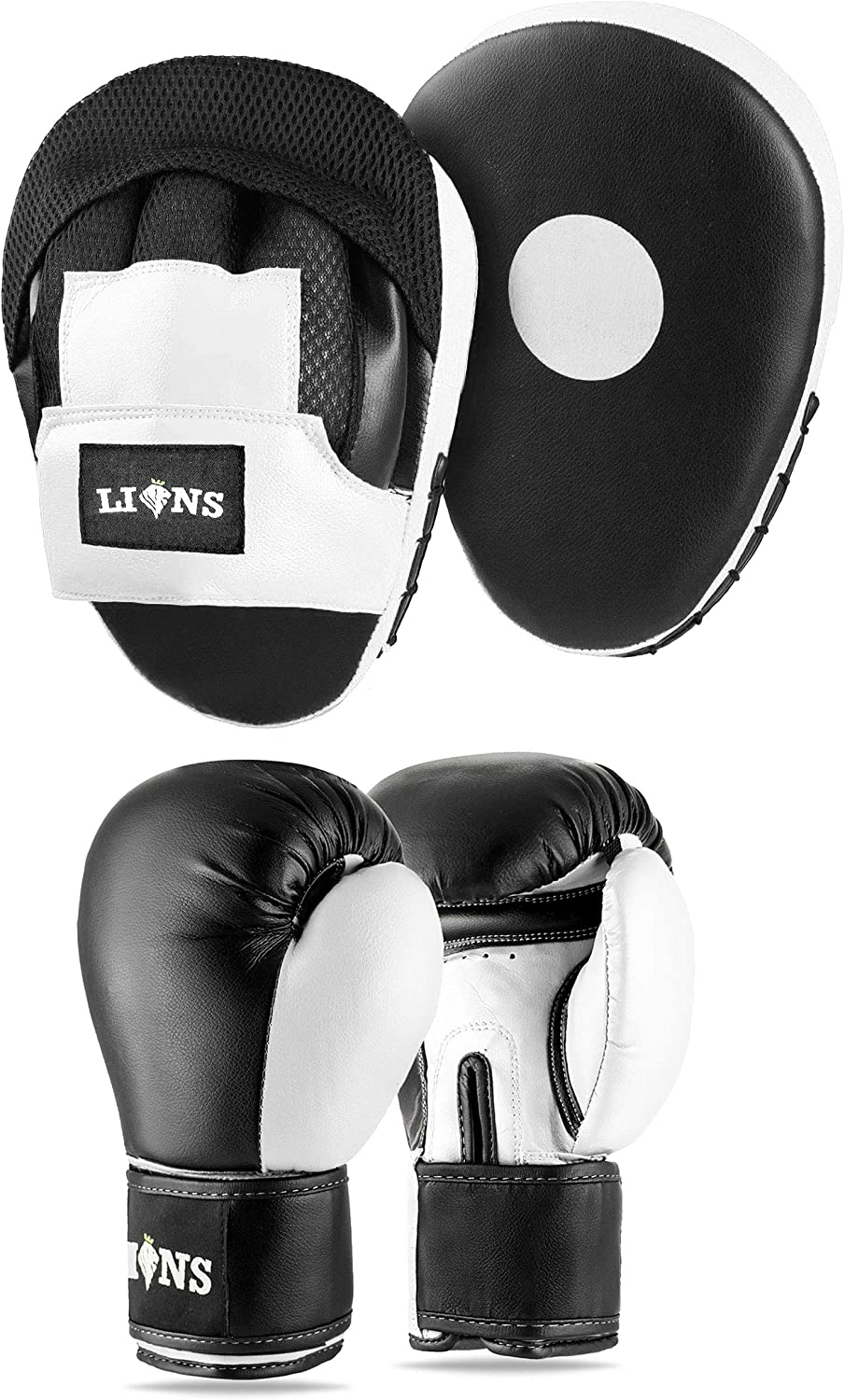 Rex Sports Kids Boxing Focus Pads White gold Curved Pads Hook and Jabs Pads Pair