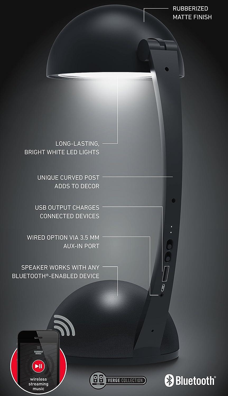Amazon.com: Sharper Image Wireless Bluetooth Desk Lamp Speaker ...