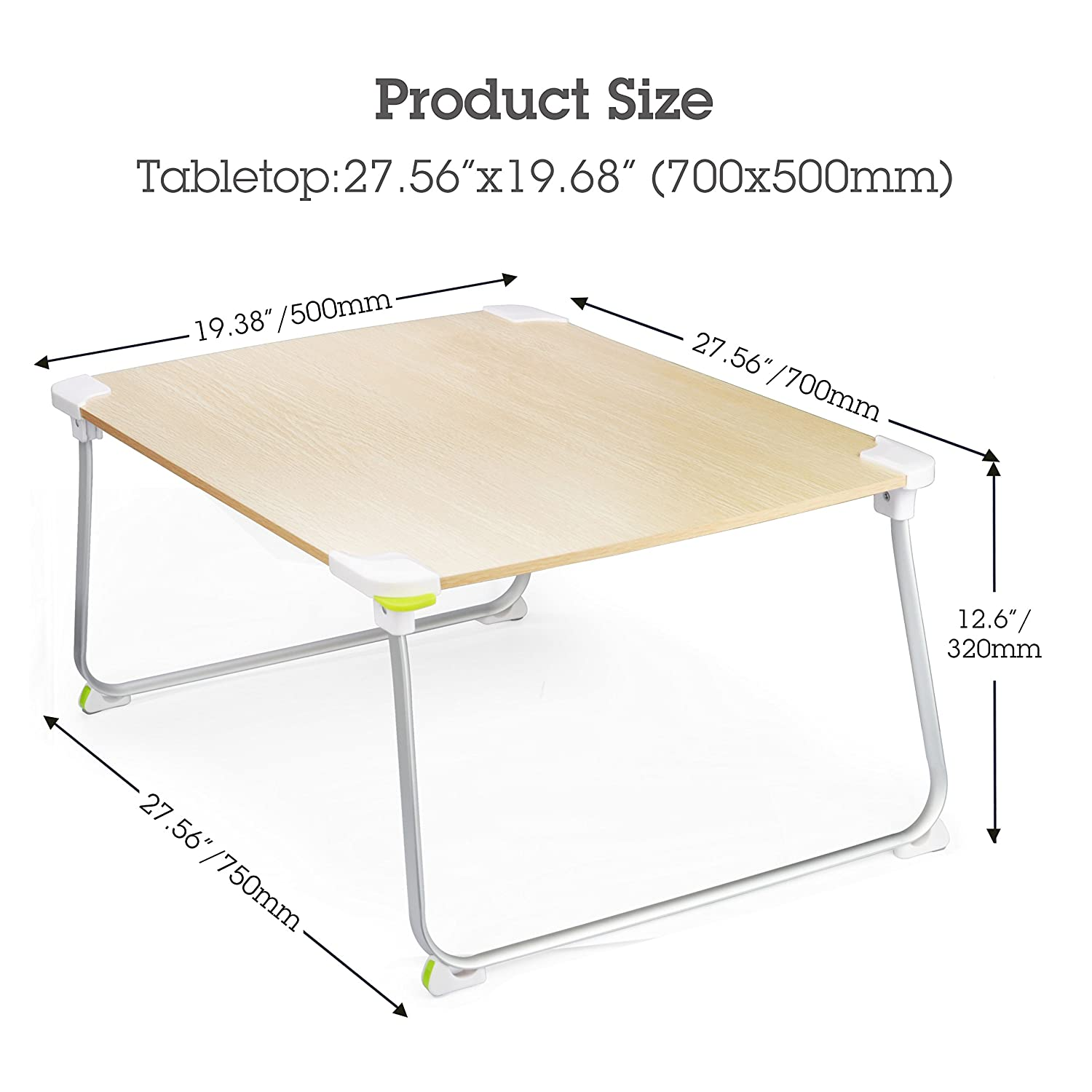 Amazon [LARGE SPACE] Sturdy Floor Table Foldable Bed Laptop