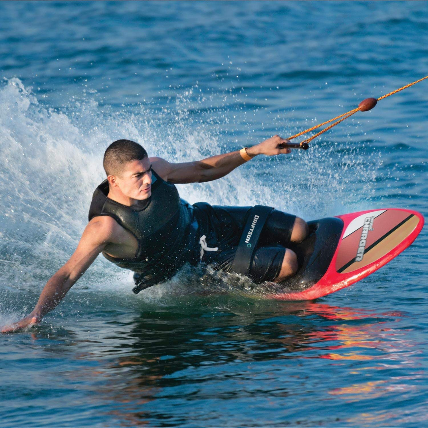 Knee-Board Water-Sports Driftsun Charger Kneeboard with Hook for Kids and Adults 54-Inches x 20-Inches Renewed Includes Boating Strap and Hook