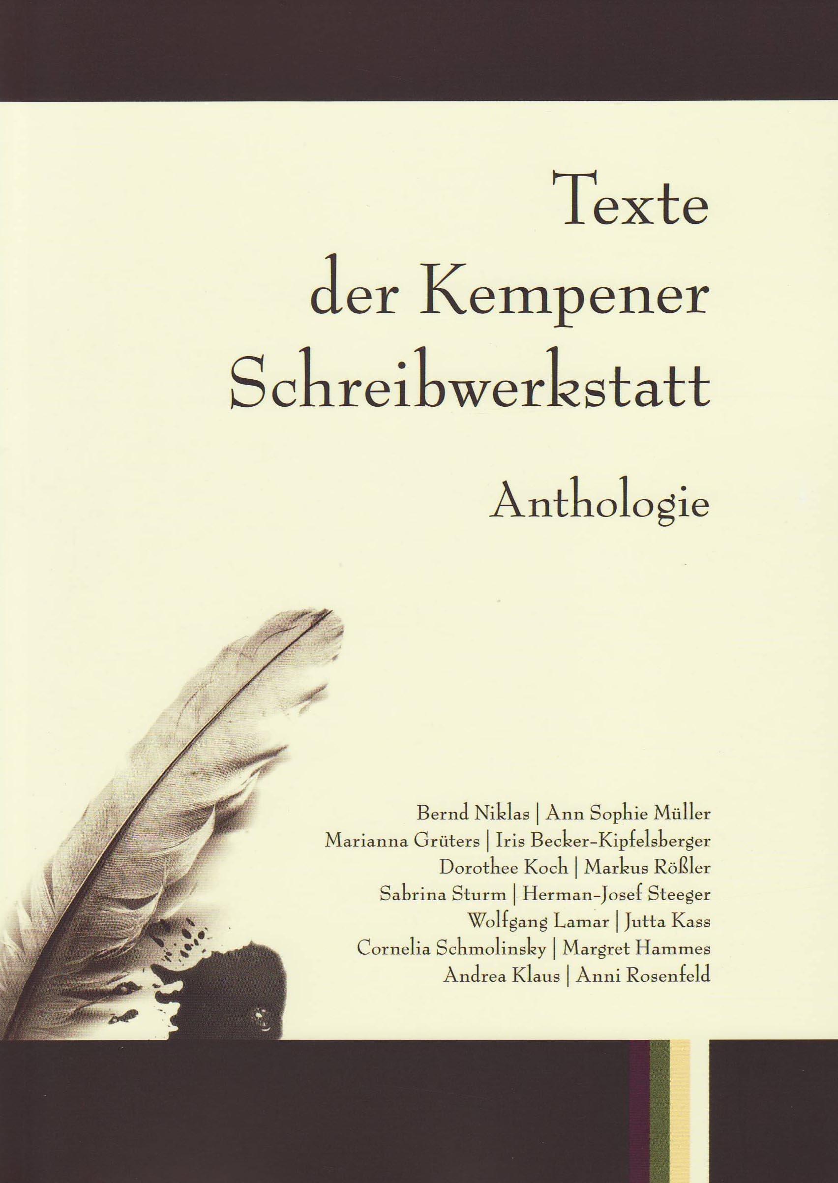 Texte der Kempener Schreibwerkstatt: Anthologie