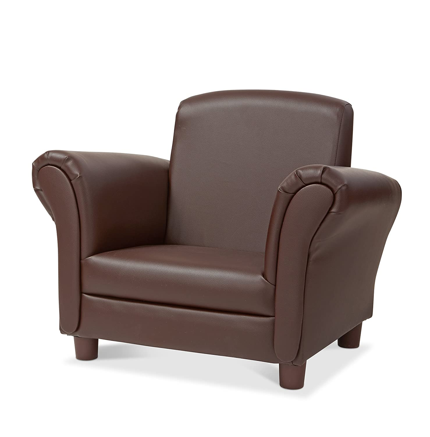 Melissa & Doug Child's Armchair - Coffee Faux Leather Children's Furniture Melissa and Doug 30235