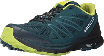 Salomon Sense Marin, Zapatillas de Trail Running para Hombre, Azul (Reflecting Pond/Black/Lime Punch), 42 EU: Amazon.es: Zapatos y complementos