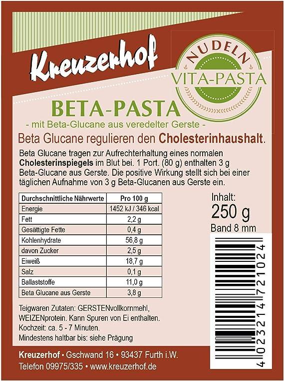 Pasta de sándwich Beta con Beta Glucane de refinado cebada, pasta reguladora del colesterol en pack de 6 (6 x 250 g)