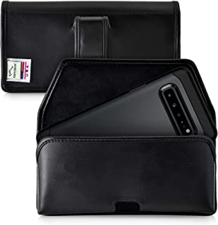 product image for Turtleback Holster Designed for Samsung Galaxy S10 5G (2019) Belt Case Black Leather Pouch with Executive Belt Clip, Horizontal Made in USA
