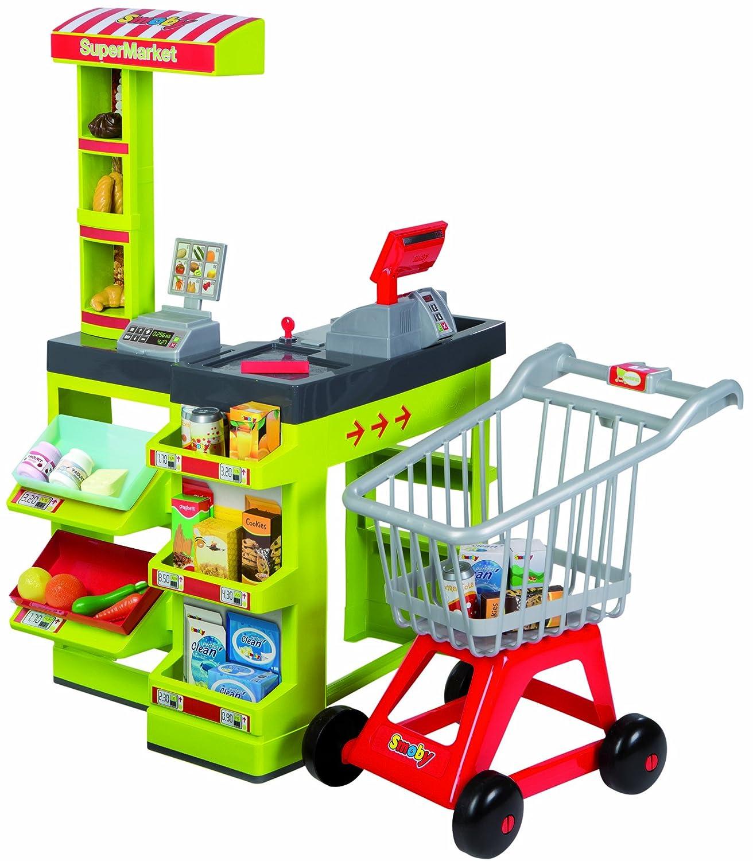Smoby - Supermercado de juguete con carrito: Amazon.es: Juguetes y juegos