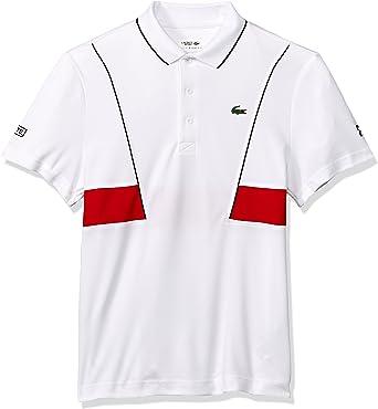 Lacoste Hombres DH3325-51 Manga Corta Camisa Polo - Blanco - Medium: Amazon.es: Ropa y accesorios