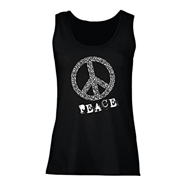 81177fbc535b99 lepni.me Women s Tank Top Peace Symbol 60s 70s Hippy Hippie Sign Summer  Festival
