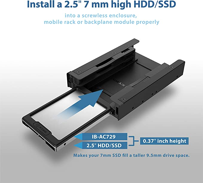 7mm to9.5mm adapter spacers for2.5/'/'solid state drive SSD SATA HDD hard driveGQY