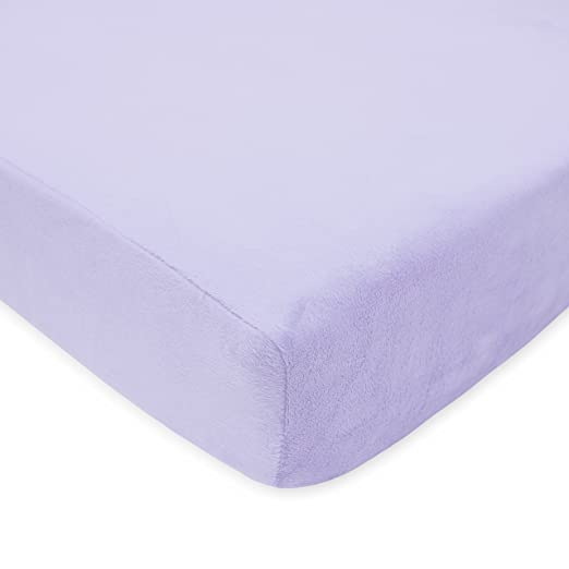 American Baby Company Heavenly Soft Chenille Fitted Crib Sheet, Lavender