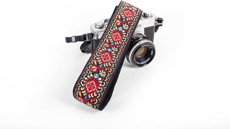 White Woven Vintage Camera Strap for All DSLR Camera Floral Pattern Strap Best Stocking Stuffer for Men /& Women Photographers Embroidered Elegant Universal Neck /& Shoulder Strap