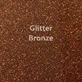 """Siser Glitter Heat Transfer Vinyl 20"""" x 12"""" Sheet (Bronze)"""