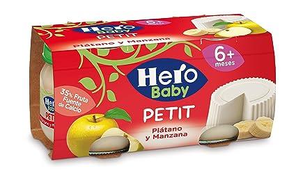 Hero Baby Plátano y Manzana - Paquete de 2 x 80 gr - Total: 160