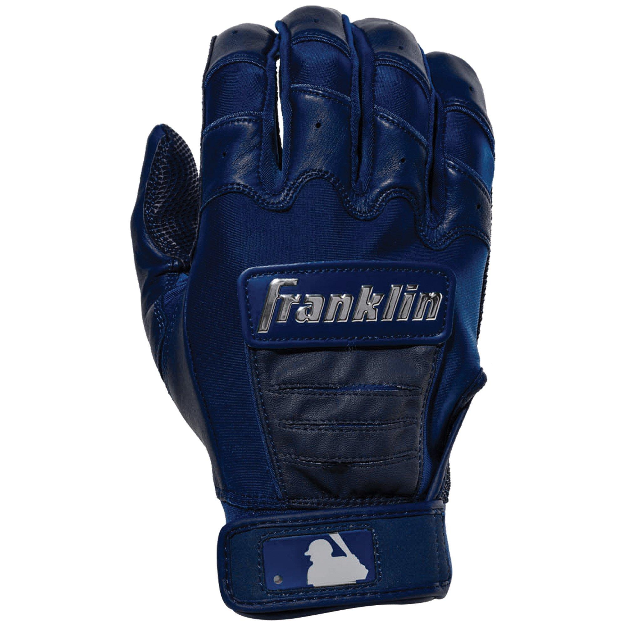 Franklin Sports CFX Pro Full Color Chrome Series Batting Gloves CFX Pro Full Color Chrome Batting Gloves, Navy, Adult Small by Franklin Sports (Image #2)