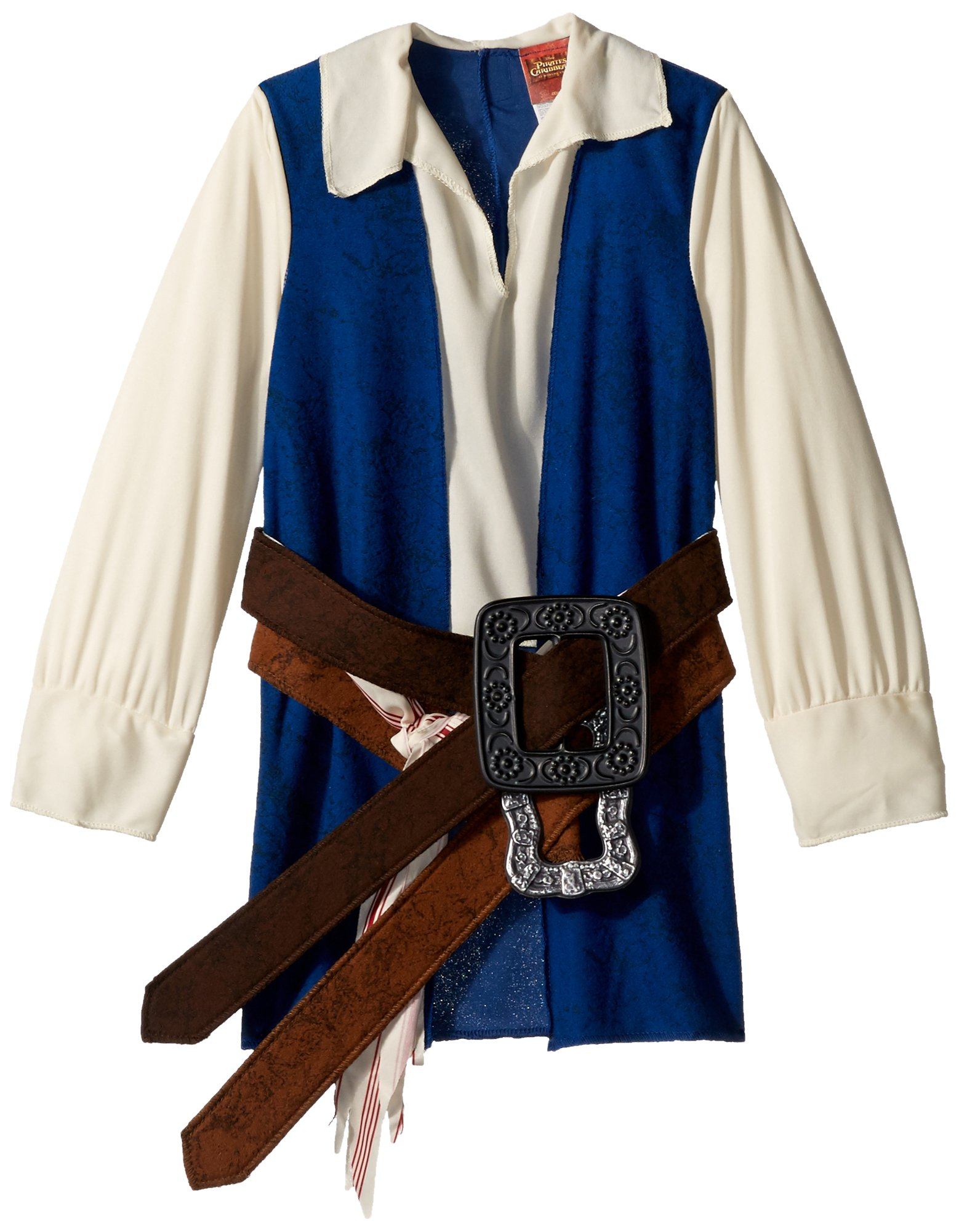Disney Pirates of The Caribbean Captain Jack Sparrow Prestige Premium Boys Costume, Small/4-6 by Disguise (Image #4)