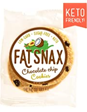 Fat Snax Cookies - Low Carb, Keto, and Sugar Free (Chocolate Chip, 12-Pack (24 Cookies))