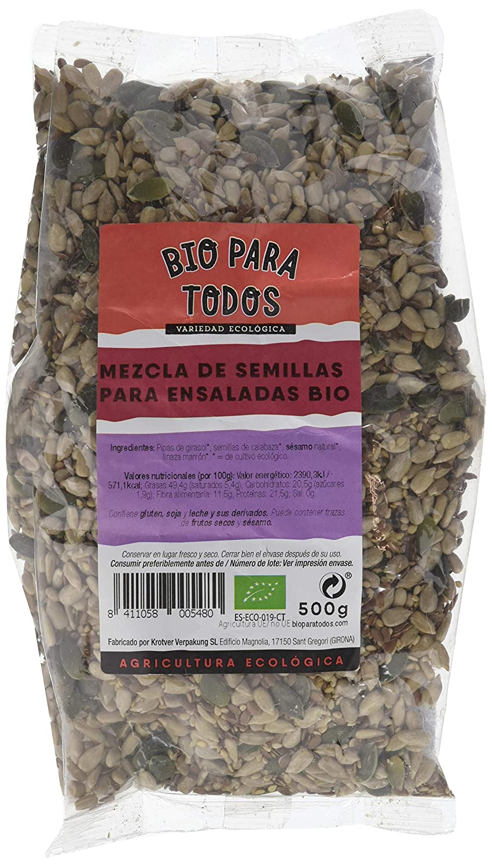 Bio para todos Mezcla de Semillas Para Ensaladas - 3 Paquetes de 500 gr - Total: 1500 gr: Amazon.es: Alimentación y bebidas