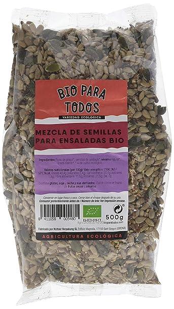 Bio para todos Mezcla de Semillas Para Ensaladas - 3 Paquetes de 500 gr - Total