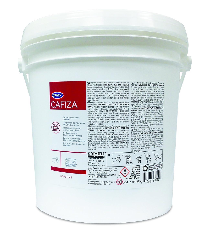 CAFIZA Urnex Espresso Machine Cleaning Powder, White, 1 gal URN3701
