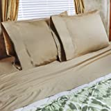 48x75 Sheet Set 3/4 Full Bunk Camper Sheet set 100% cotton 300tc Color: Camel