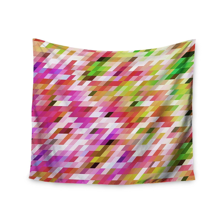 68 x 80 KESS InHouse Dawid Roc Spring Summer Geometric Pastel Digital Wall Tapestry