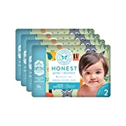 The Honest Company Baby Diapers With TrueAbsorb Technology, Little Forest, Size 2, 128 Count