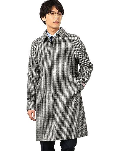 William Bliss Kersey Tweed Balmacaan Coat 3125-157-0434: Grey