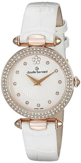 Claude Bernard Women's 20504 37RP APR2 Dress Code Analog Display Swiss  Quartz White Watch