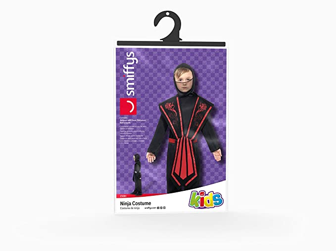 Smiffys - Disfraz de Ninja Infantil, Talla L (9 - 11 años) (25081L)