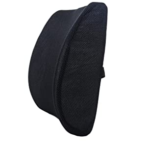 Milliard Lumbar Support Pillow, Memory Foam Chair Cushion Supports Lower Back for Easy Posture in The Car, Office, Plane and Your Favorite Chair