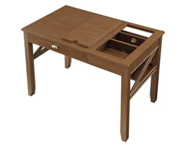 osp designs ldn25 lw landon writing desk light old wood finish - Designer Writing Desk
